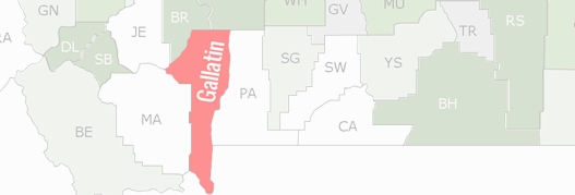 Gallatin County Map