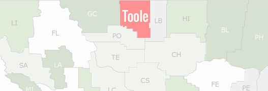 Toole County Map